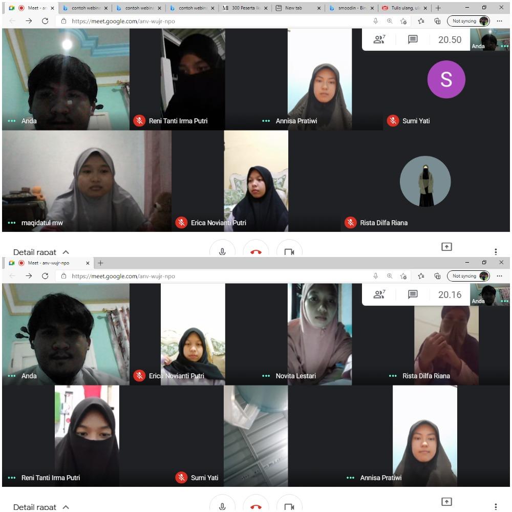 Himpunan Mahasiswa Program Studi Komunikasi Penyiaran Islam (KPI) menggelar rapat bersama, mengenai pelaksanaan webinar di prodi KPI stain Sultan Abdurrahman pada tahun 2021 melalui media google meet, Rabu 03/03/2021. Kegiatan tersebut dihadiri Hima Prodi KPI.